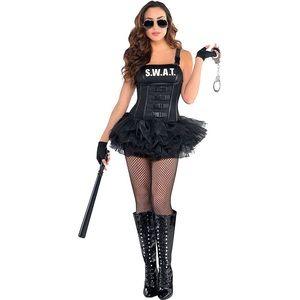 Hot Swat Sexy cop Costume Halloween